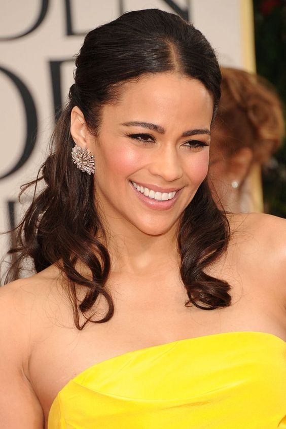 Pin for Later: These Half-Up Hairstyles Give You the Best of Both Worlds Paula Patton If you know your hair misbehaves, slicking back the front sections with some gel or wax will stop flyaways from appearing as the night progresses.