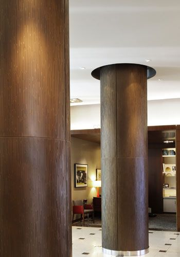 Interior Column Wraps Intercontinental Hotel Design