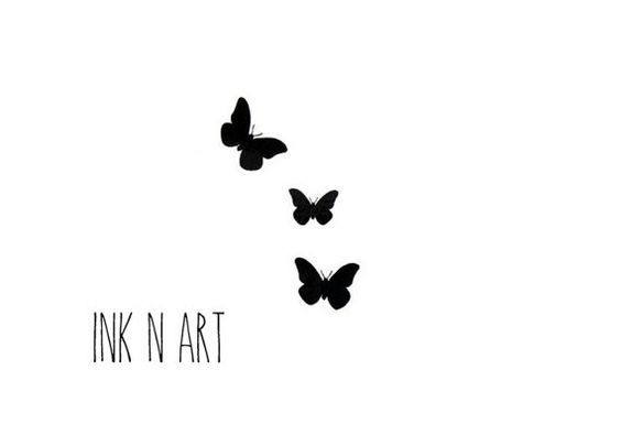 3pcs Butterfly tattoo InknArt Temporary Tattoo wrist by InknArt