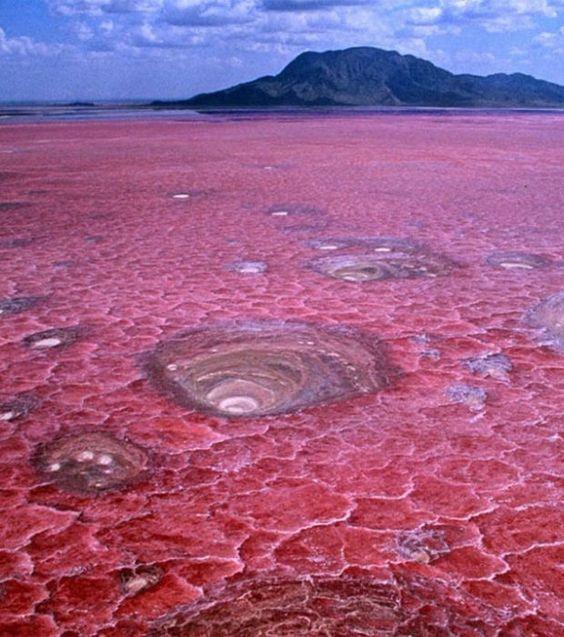 Photo : Le lac Latron en Tanzanie