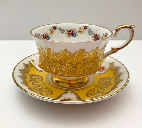 Vintage china tea cup and saucer, made by Paragon in England. It is in good condition, no chips, cracks or crazing. Please Note: The items I sell are not new, they are vintage or antiques, it goes without saying that there maybe some imperfections which I will try my best to