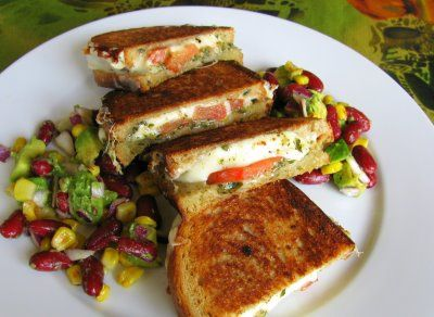 Mozerella grilled cheese sandwich