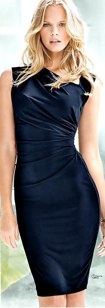 Victoria's Secret ● Asymmetrical Shift Dress. Perfect for #Pageant Interviews. #fashionista:
