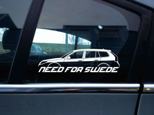Need For Swede Sticker For Saab 9 3 Aero Facelift 2nd Gen Sports Tourer Wagon