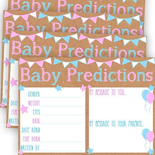 Baby Shower Games Decorations Activities Supplies Invitations 30 Baby Shower Prediction and Advice Cards for The Baby Girl