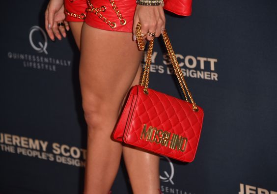"""Singer Rita Ora, fashion detail, attends the premiere of The Vladar Company's """"Jeremy Scott: The People's Designer"""" at TCL Chinese 6 Theatres on September 8, 2015 in Hollywood, California."""