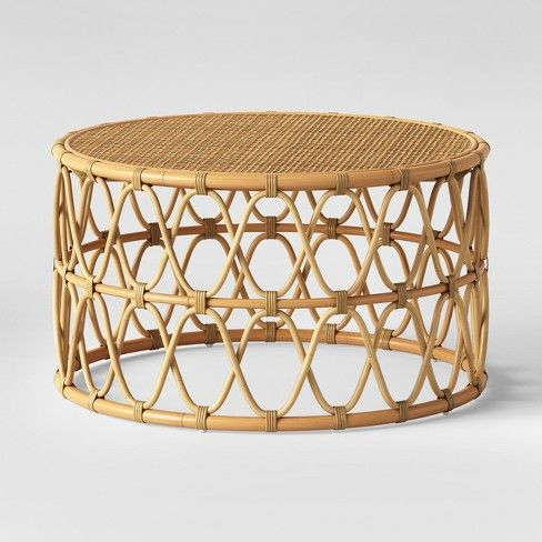 Jewel Round Coffee Side Table Set Natural Opalhouse Target Wicker Coffee Table Rattan Coffee Table Circle Coffee Tables