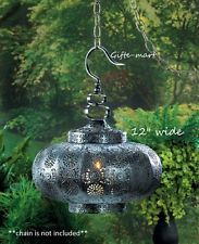 Punched Moroccan hanging pendant lamp Lantern chandelier Candle holder light L