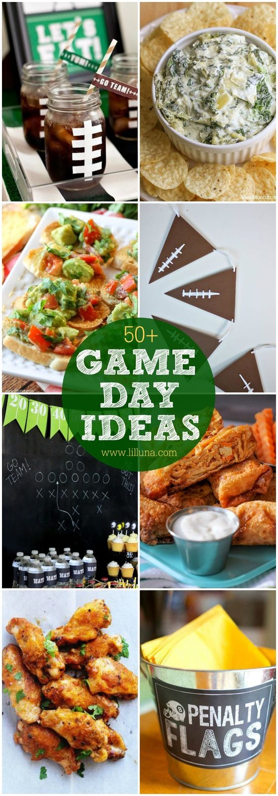 A roundup of Game Day ideas including printables, decor ideas, and recipes perfect for you next football party.