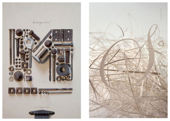 Collection Heavy Metal & Sensual Scrap (pieces of paper) by Tom Davie