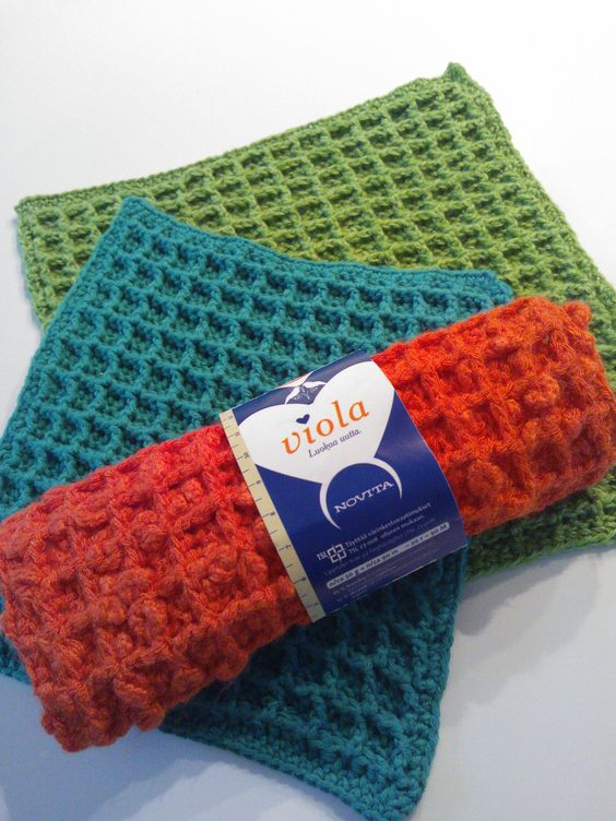 Waffle Crochet Dishcloth By Chip Flory - Free Crochet ...