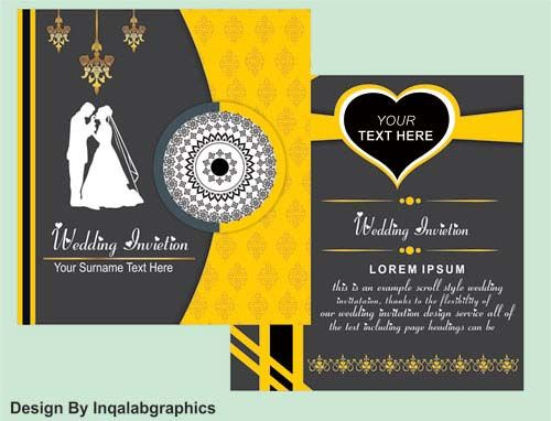 Photo Wedding Invitations Vector Wedding Invitation Vector Photo Wedding Invitations Free Wedding Templates