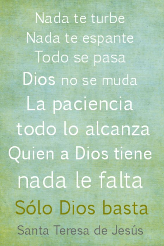 SAINT TERESA  SPANISH QUOTES {Domestic Refuge}                              www.domesticrefuge.blogspot.com: