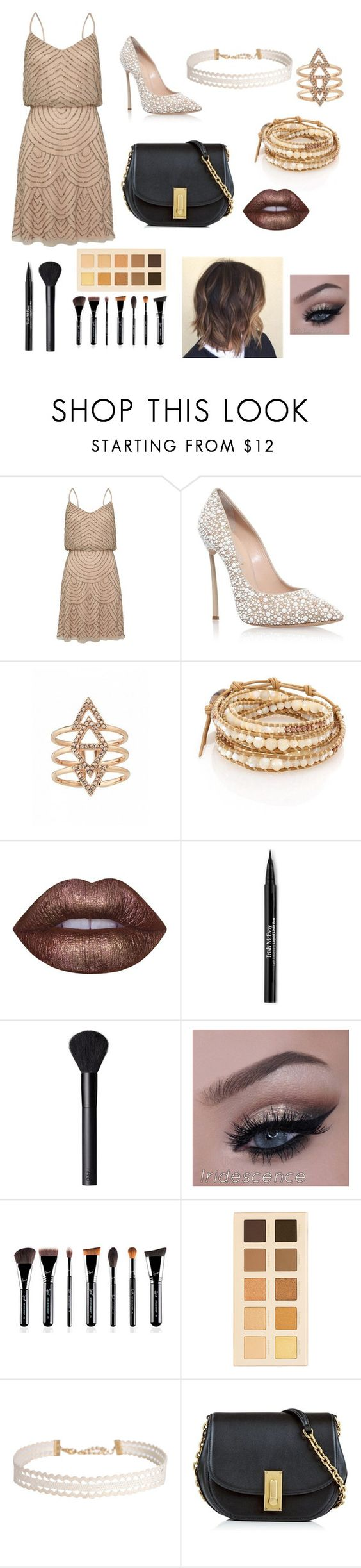 """Date Night W/ Choker"" by kaceyfromgeorgia ❤ liked on Polyvore featuring Adrianna Papell, Casadei, Chan Luu, Lime Crime, Trish McEvoy, NARS Cosmetics, LORAC, Humble Chic, Marc Jacobs and DateNight"