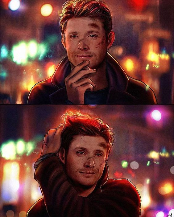 "This is kinda cute. Dean should def have his hair a little longer. ""Yeah, but at least we are alive, right Sammy?"" Dean Winchester. By Petite Madame(instagram) aka P.m VonApple:"