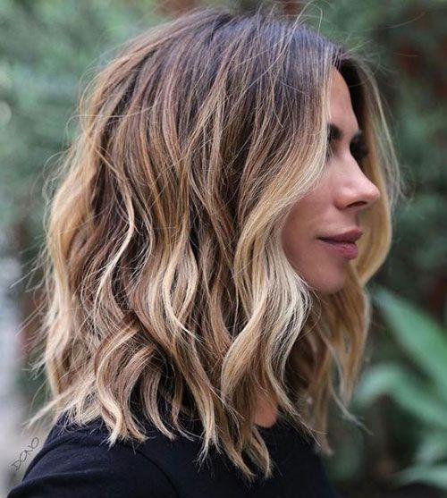 20 Besten Mittellangen Gewellten Frisuren Hairstyles Neue Frisuren Haarfarben Coole Frisuren