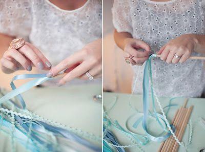 Les moineaux de la mariée: DIY : fabriquer Une baguette-ruban