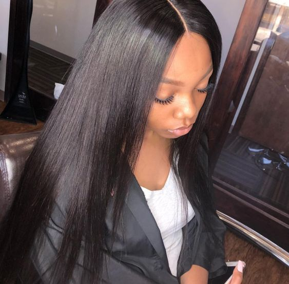 Classic Lace Wigs Custom Order Glueless Lace Wigs Silky Straight