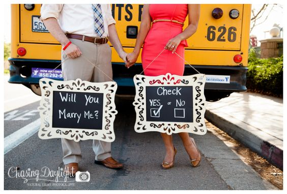Teacher Themed Engagement Session from Chasing Daylight Photography. San Diego, CA