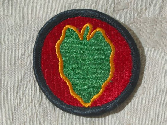 MILITARY SHOULDER PATCH 24th Infantry Division Taro Leaf Vietnam  Junk_577  http://ajunkeeshoppe.blogspot.com/