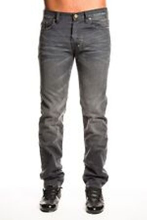 PRPS grey denim RAMBLER distressed SLIM FIT E61P18V mens jeans ...