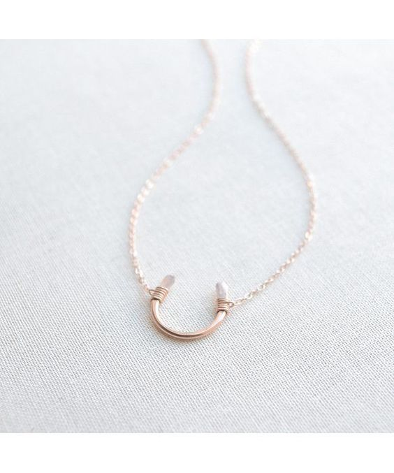Rosegold Horseshoe Necklace