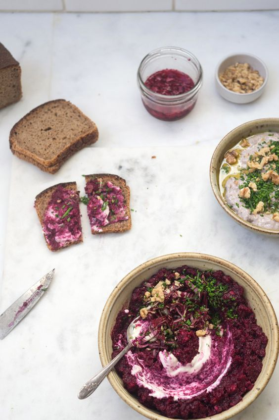 Roasted Beet Soup With Creme Fraiche Recipe — Dishmaps