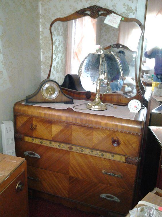 antique vintage waterfall art deco bedroom set 1920s 1930s 4 pieces in antiques antique art deco bedroom furniture