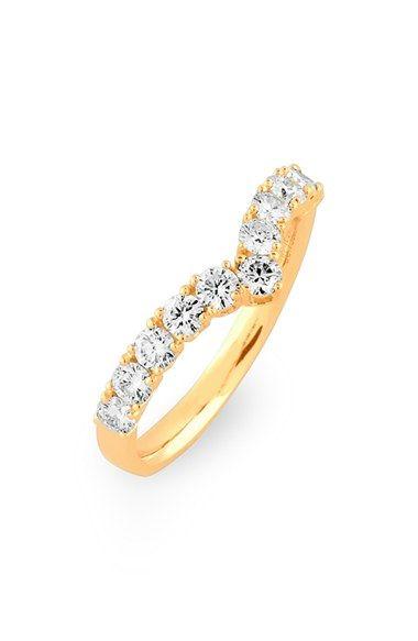 Bony Levy Chevron Diamond Band Ring (Nordstrom Exclusive)