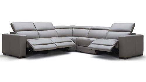 Zuri Furniture Modern Mirage Reclining Sectional With Power