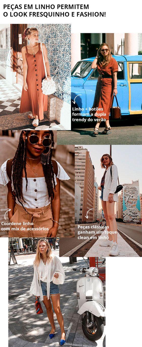 Nada melhor do que tecidos leves para enfrentar o street durante as altas temperaturas, certo?  linho - street style - looks - moda - trend