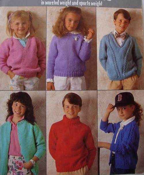 Children's fashion from the 1980s consisted of chunky ... - photo#3
