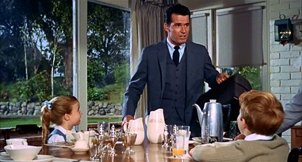 Doris Day and James Garner's lovely mid century suburban home in the 1963 film The Thrill Of It All...:
