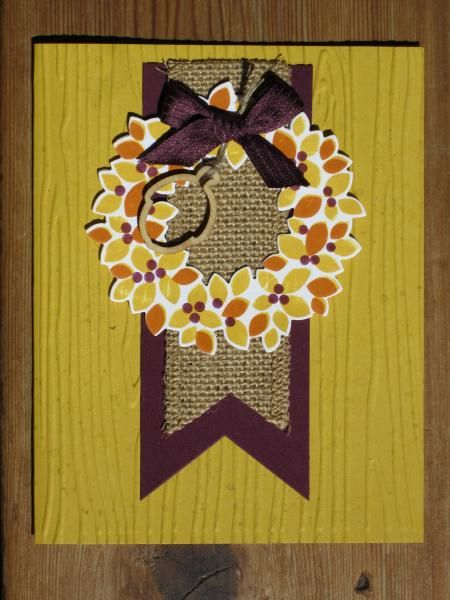 Fall Wreath by bobkitten - Cards and Paper Crafts at Splitcoaststampers