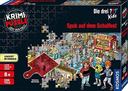Kosmos 697983 Krimi Puzzle Die Kids Spuk Auf Dem Schulfest Leuchtet Im Dunkeln 200 Teile Lesen Puzzeln Ratsel Losen Fur Kinder Ab 8 Jahre Amaz In 2020
