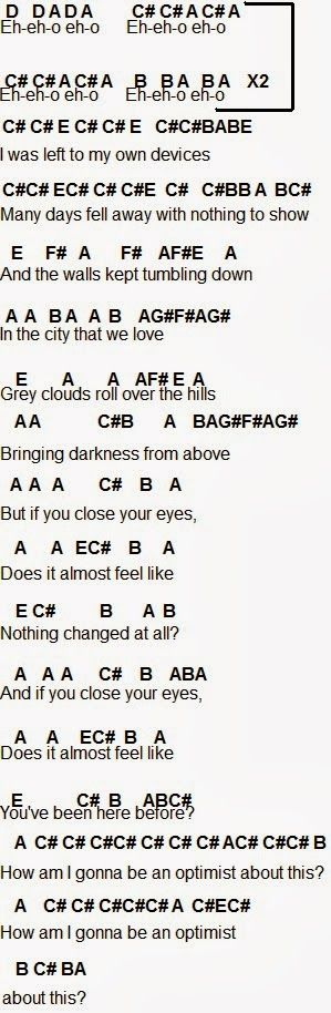 guitar chords to bastille flaws
