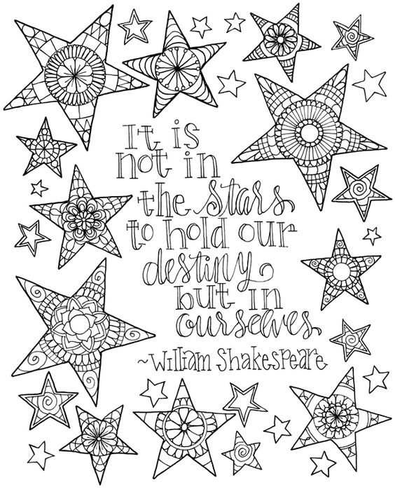 Shakespeare Quote Inkspirations Quote Coloring Pages Ink