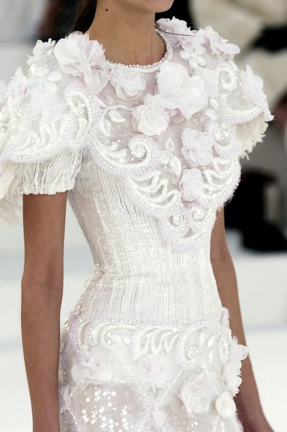 Chanel wedding dress chanel wedding and chanel on pinterest for Coco chanel wedding dress