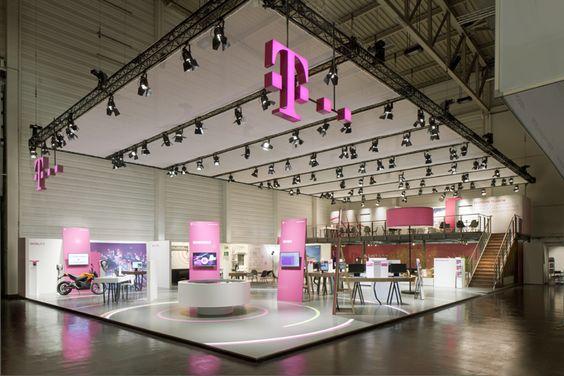 Deutsche Telekom stand by Hartmann Vonsiebenthal at E World 2014, Essen Germany trade fairs exhibitions