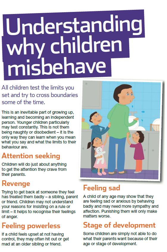 Every child misbehaves sometimes - these are some of the reasons why. For NSPCC advice on  how to encourage better behaviour see our guide: http://www.nspcc.org.uk/help-and-advice/for-parents-and-carers/guides-for-parents/better-behaviour/better-behaviour_wda90710.html