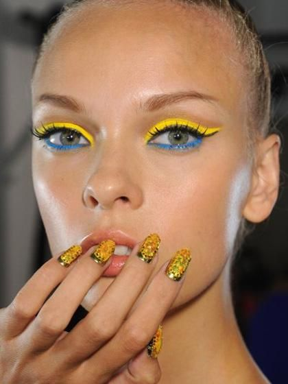 Embellished Spring 2014 manicure by Phillipe and David Blond.