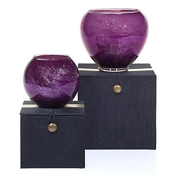 Set the tone with flickering candlelight. Esque Candles in Aubergine, $19.95