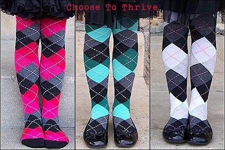 Turn socks into tights for your little girls.  Great idea!