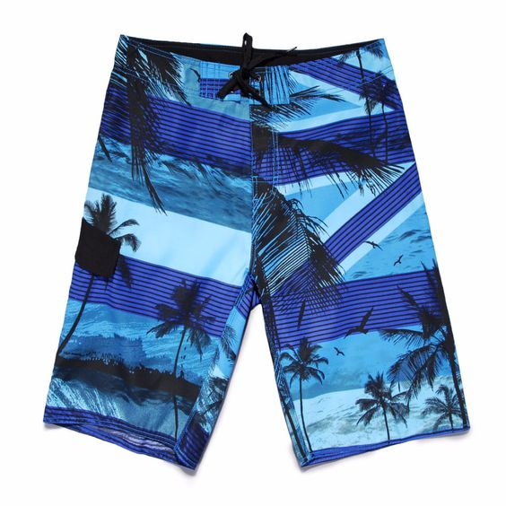 Skyblue Palm Tree Board Shorts