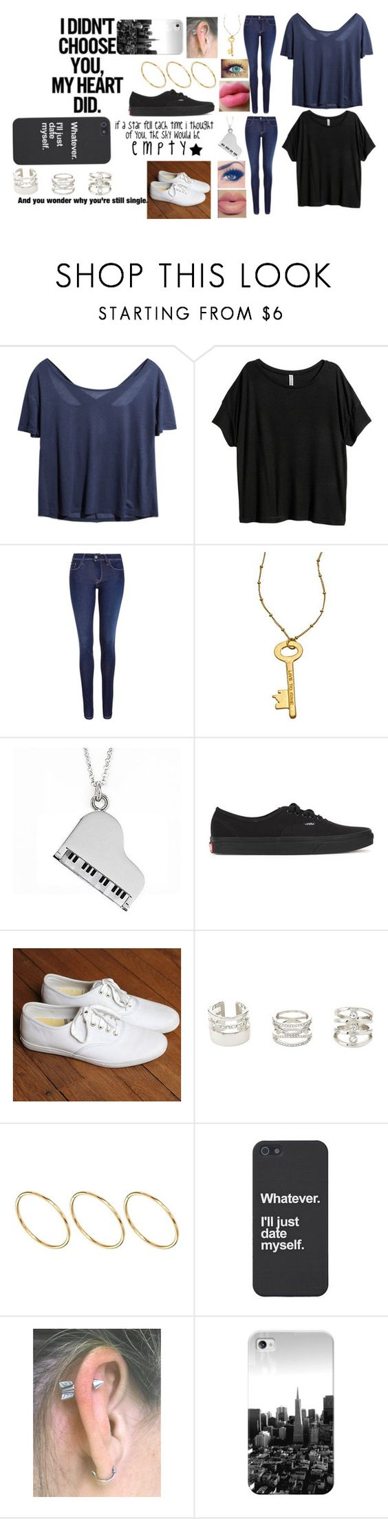 """""""Love both"""" by troylerzalfie on Polyvore featuring H&M, Salsa, Blu Bijoux, Jan Leslie, Vans, Love Quotes Scarves, Keds, Charlotte Russe, ASOS and Casetify"""
