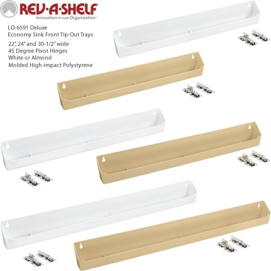 Almond Rev-A-Shelf LD-6591-24-15-1 Sink Base Organizers