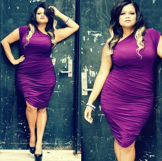 Christina Mendez plus size sexy fitted and fine as hell ! Purple ...
