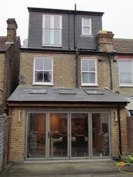 Kitchen extension - roof lights and glazed back wall.  Now that is maximising all the space!