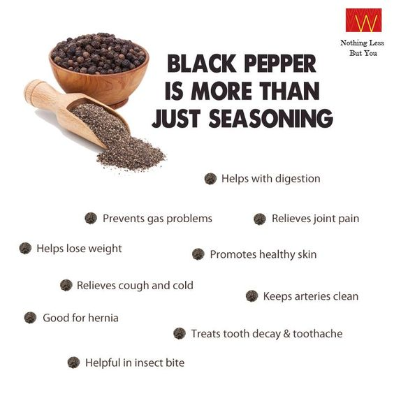 How often do you include black pepper in your diet?