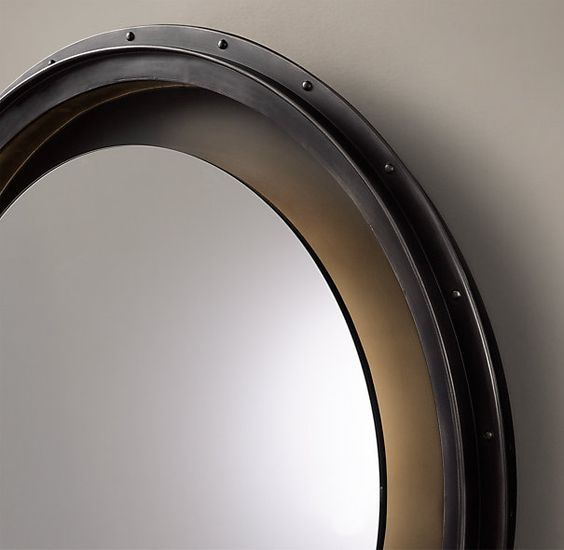 Pinterest the world s catalog of ideas for Restoration hardware round mirror